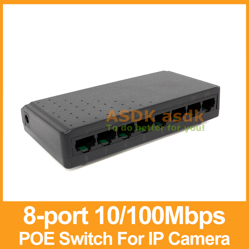Brand New and High Quality! 8-Port 10/100M Switch 90W 15V POE Switch Power over Ethernet for IP Camera System Network Switch(China (Mainland))