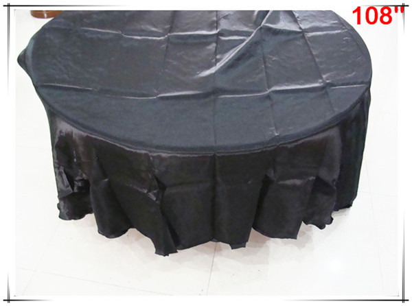 10pcs 108'' new product satin silk table clothes for sale(China (Mainland))