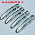 Chrome Door Handle Covers Door Bowl Styling Trim For Toyota Land Cruiser V8 LC 200 Accessories