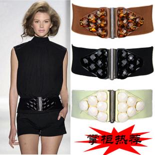 acrylic gem s cummerbund wide belt big gem s