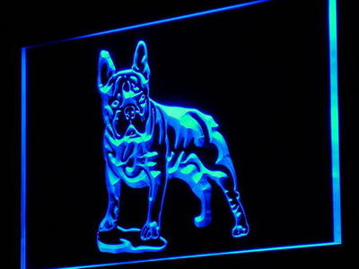 j126-b French Bulldog Dog Pet Shop NEW LED Neon Light Sign Wholesale Dropshipping On/ Off Switch 7 colors DHL(China (Mainland))