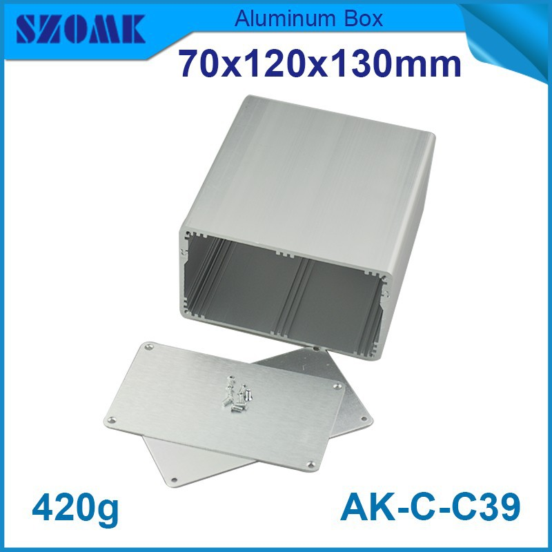 10 pcs/lot aluminum amplifier case enclosure in silver color with moved top case smooth anodizing surface fit pcb 60x115 mm<br>