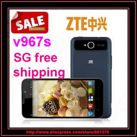"Hot Selling Original ZTE V967s Android 4.2 Android Phone 5"" IPS screen MTK6589 quad core 5.0MP Dual Camera Russian Free Gift/Jes(Hong Kong)"