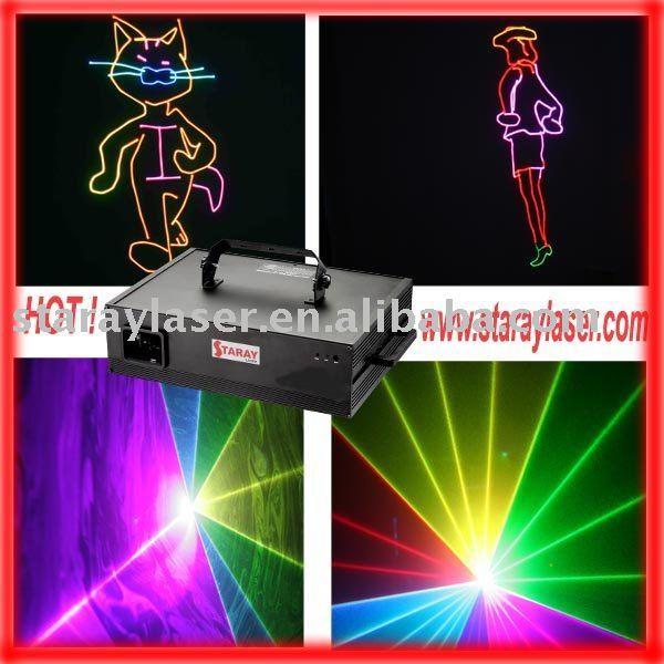 1 Watt  RGB full color amazing stage lighting,laser lighting,stage laser light