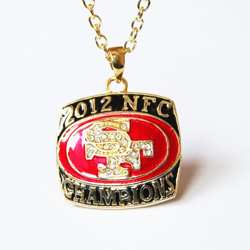 2015 new best gift Sport Jewelry 2012 San Francisco National Football Championship Pendants Necklace For Men and Women(China (Mainland))