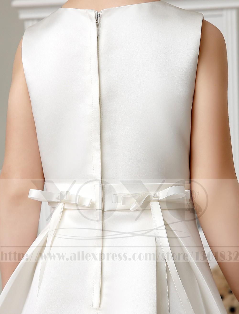 Скидки на Элегантный кот платье-линии дань шелковый тонкий маленькие девочки вечерние платья с перламутровыми детей театрализованное платья платья принцесс