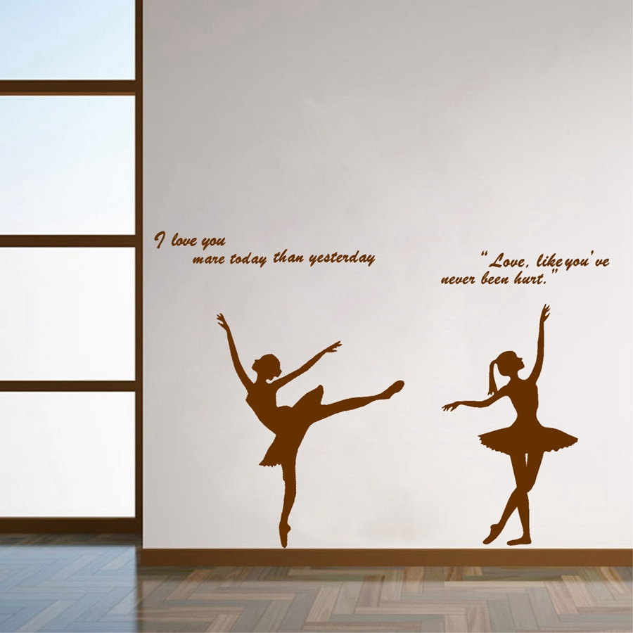 Ballet quotes promotion shop for promotional ballet quotes for Ballerina wall mural