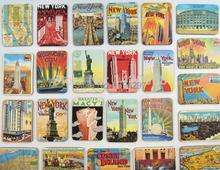 24pcs/lot American NY Liberty scenery fridge magnet Present Empire State Building Travel refrigerator sticker gift souvenir Z(China (Mainland))