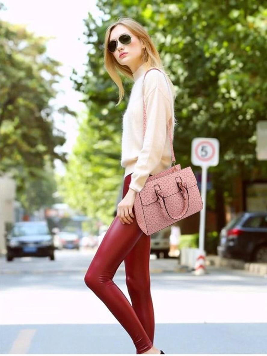 Six sets PU Leather printing Handbags Women Famous Brands Designer Causal Women Bag Tote Shoulder Bags Purse Bolsas Feminina