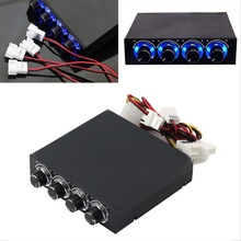 3.5inch PC HDD CPU 4 Channel Fan Speed Controller Led Cooling Front Panel Promotion Wholesale Store(China (Mainland))