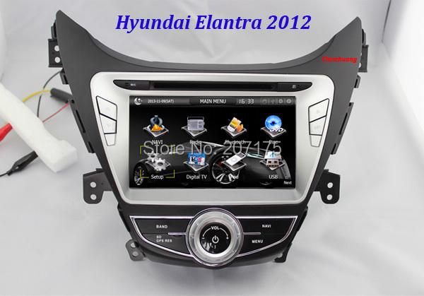 Promotion ! Car DVD for Hyundai Elantra 2012 Avante i35 2011with GPS Navigation, Radio Tape Recorder, TV, BT, iPOD+Free 8G Map(China (Mainland))