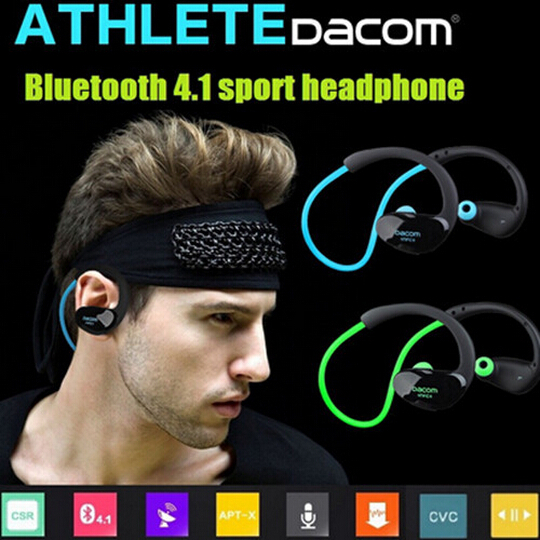 Bluetooth Wireless Headset Headphone Earphone Sport Handfree Universal DACOM Athlete wireless bluetooth 4.1 stereo headphone