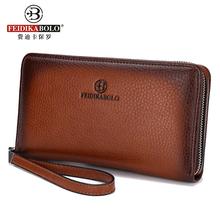 Men's New Business Long Luxury Brand Clutch Men Wallet Fashion Male Zipper Vintage Purses Leather Portemonne Portafogli Uomo(China (Mainland))