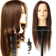 Mannequin Head Hair Heat Resistant with Hair Mannequin Head Hairdressing Training Educational Doll Heads Hair Styling Mannequins(China (Mainland))