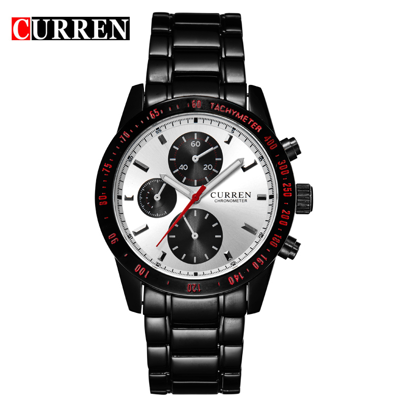 High Quality CURREN 8016 Elegant Sport Mens Watch with Round Dial Stainless Steel Band(China (Mainland))