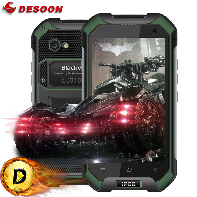 IP68 WaterProof Blackview BV6000 Mobile phone 4G LTE Android 6.0 MTK6755 Octa Core 3GB+32GB 13MP GPS Glonass In Stock