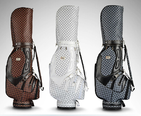 2015 PMG brand top quality Hot Sale Unisex England style Excellent Waterproof Pu Leather Standard Golf Bag(China (Mainland))
