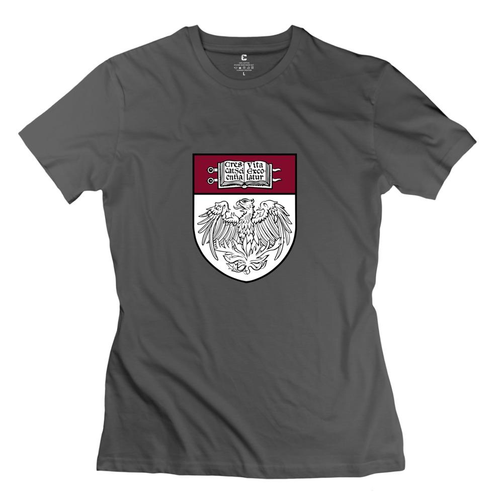 Top Designer Short Sleeve University of Chicago Women's t shirt 2015 Brand Girlfriend T Shirt(China (Mainland))