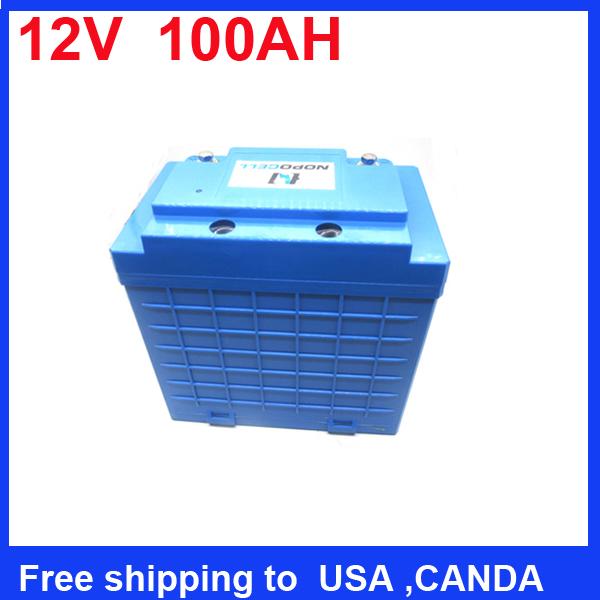 Free shipping Solar Street Lights lithium battery pack 12V 100Ah Lithium ion 12v 100ah Lifepo4 battery(China (Mainland))