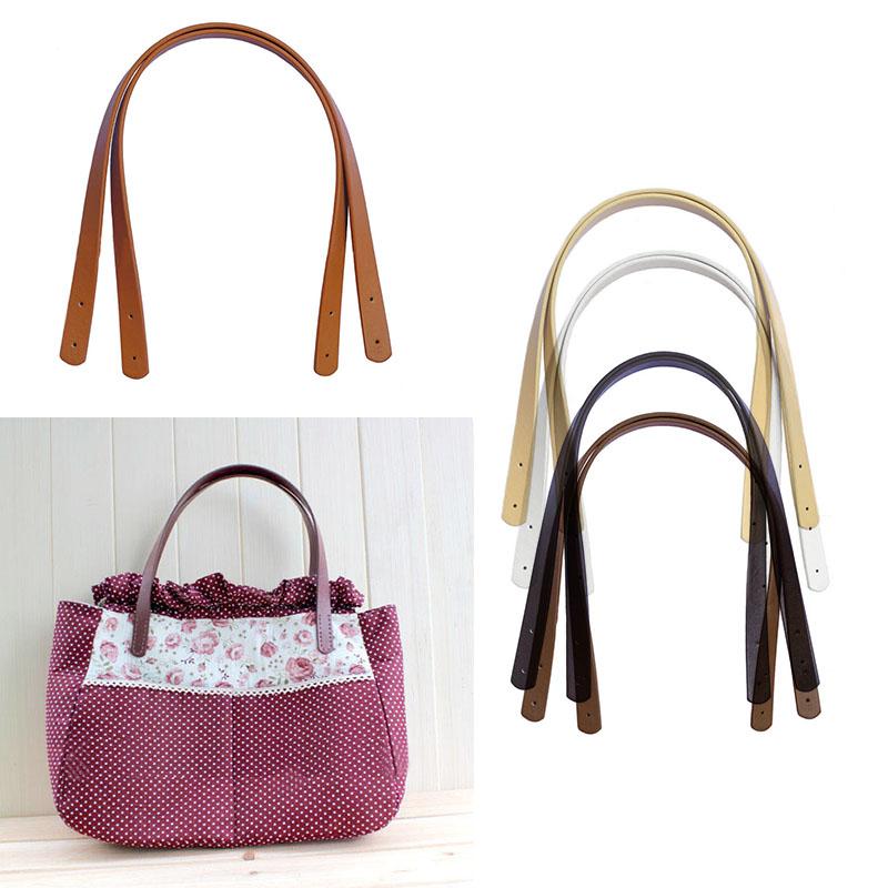 2 Pieces/Lot Rivet Style Simple Straight Leather Handle PU Bag Belt Length 55cm Width 1.8cm DIY Lady Handbag Accessories S2500(China (Mainland))