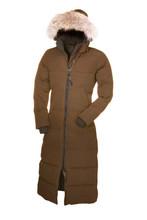 2016 Livraison gratuite Canada femmes Hiver chaud Respirant manteau en Duvet D'oie veste Loup col de fourrure des femmes Vers Le Bas veste Parka(China (Mainland))
