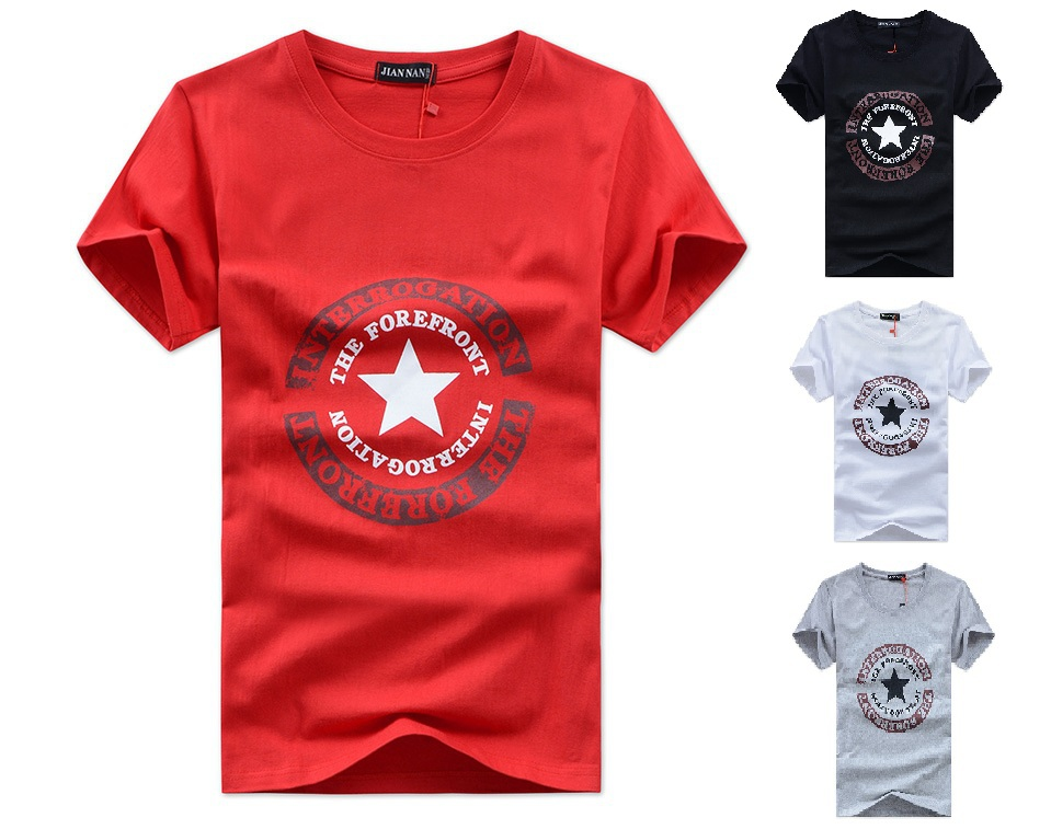 Men t shirts 100 cotton o neck 5xlstar letters camisetas for Mens 100 cotton t shirts