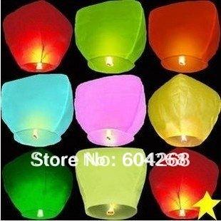 Free Shipping Wishing Lamp SKY CHINESE LANTERNS BIRTHDAY WEDDING PARTY SKY LAMP 30Pcs/Lot