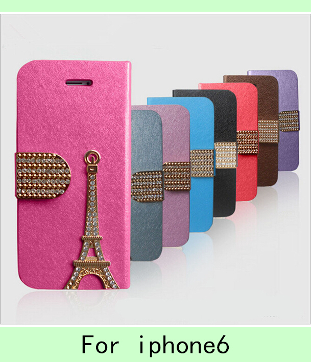 For iphone6 set auger silk lines following holster 4.7 following from the Eiffel Tower cases wholesale(China (Mainland))