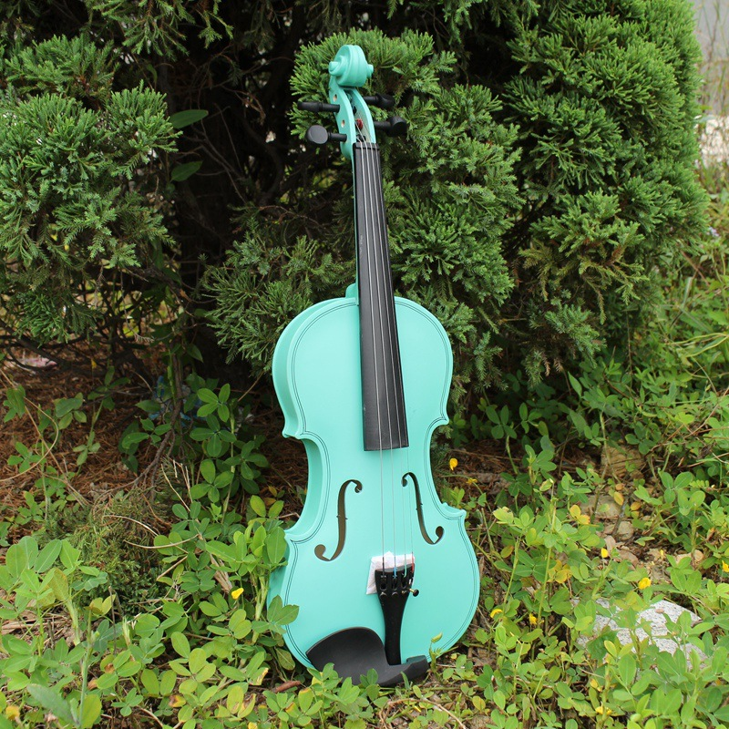 1/4 Cost-effective Antique Violin Make Violino Spruce Basswood Blue Wood Bow Stringed Instrument Musical More Colors<br><br>Aliexpress