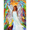 Hand Painted Angel Magic Modern Art Palette Knife thick oil painting Canvas Living Room Wall Decoration