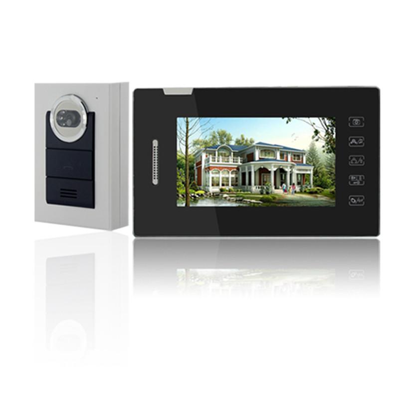 Hot Selling Smart Home 7 LCD Screen Video Intercom Phone ,Handfree intercom 1V1 Video Doorphone Kit Configuration D174C<br><br>Aliexpress