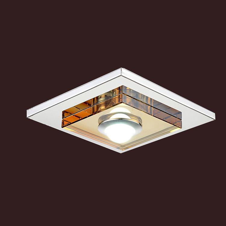 Ceiling Mounted Lights Led : New w led amber crystal ceiling light flush