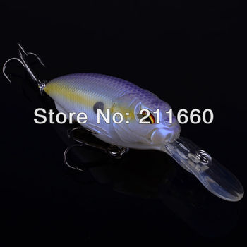 1pc Exported to Usa Market 3D Crank Lures 8 color 13.5g/7cm High Quality Fishing lure Fishing Hard Bait With 6# Hook Free Ship
