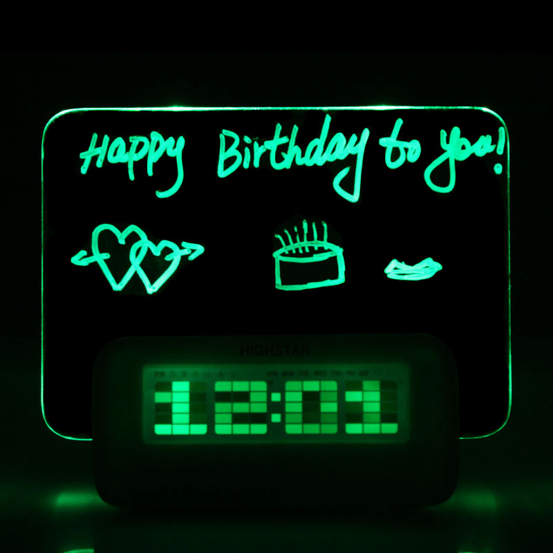 High Quality Led Fluorescent Message Board Digital Alarm