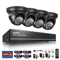 SANNCE 4CH AHD CCTV Security DVR System HDMI 720 1200TVL Weatherproof Outdoor CCTV Camera 1 0MP