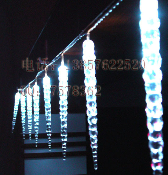 10M LED Icicle string light 38pcs Icicle Holiday/Chrismas/party/wedding/bar/hotel/restrant/park/tree decoration light