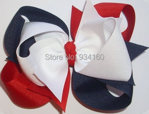4th of july 4.5  LARGE Triple Loop Grosgrain Hair Bow in Red, White, and Navy Blue -12pcsОдежда и ак�е��уары<br><br><br>Aliexpress