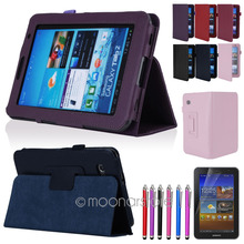 Folio PU Leather Case Cover Stand For Samsung Galaxy Tab 2 7.0″ 7″ Tablet P3100 Free Shipping XCA0022