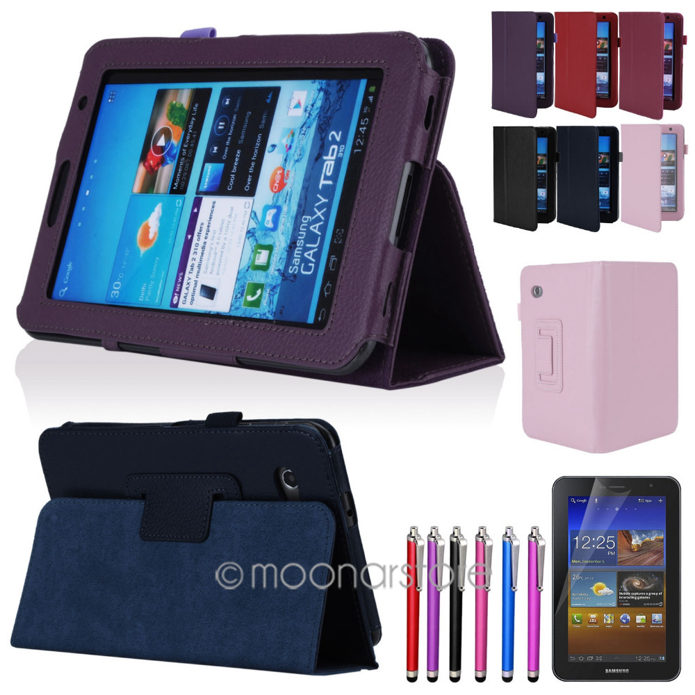"Folio PU Leather Case Cover Stand For Samsung Galaxy Tab 2 7.0"" 7"" Tablet P3100 Free Shipping XCA0022(China (Mainland))"
