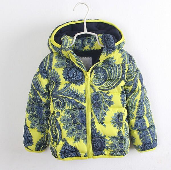 Boys Fashion Coats Childrens Winter Flower Coat Baby Cotton Plush Outwear Boy Hoodies Tops Kids Clothing WD1317<br><br>Aliexpress