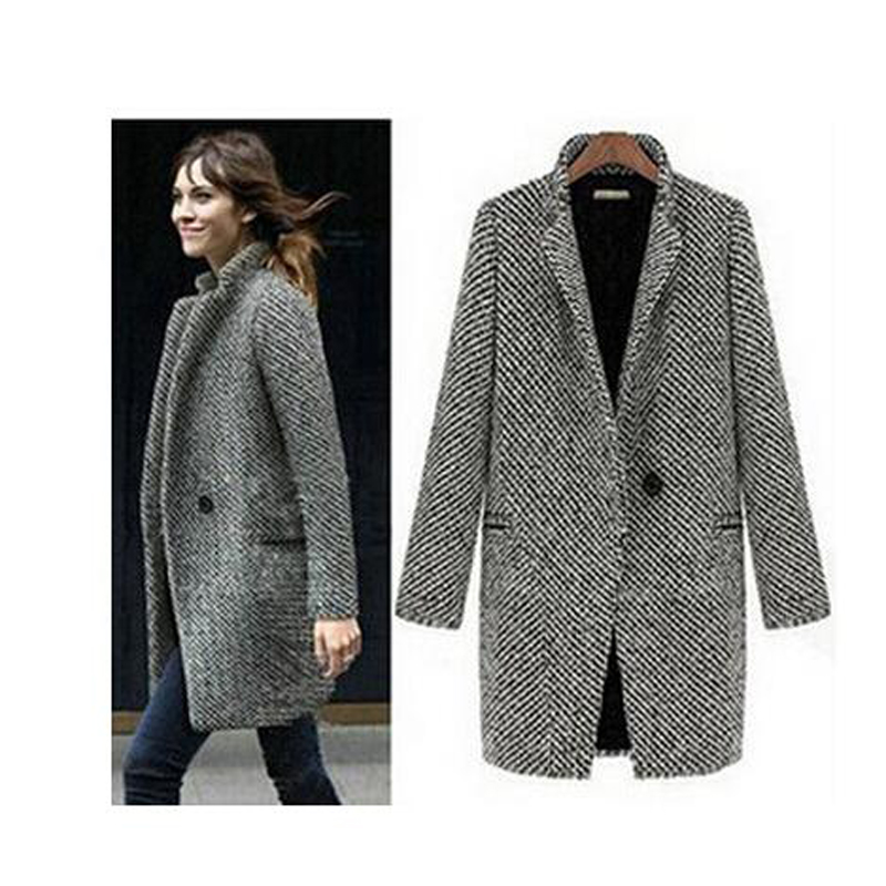 Popular Women Wool Winter Coat Grey-Buy Cheap Women Wool Winter