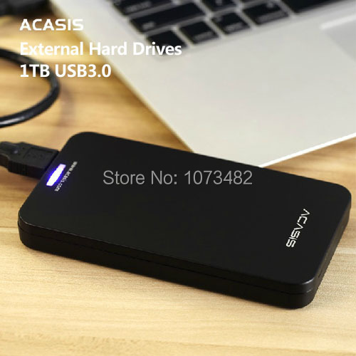 Free shipping On Sale ACASIS Original 2.5 inch USB3.0 HDD 1TB Mobile Hard Disk External Hard Drive Have power switch Good price(China (Mainland))