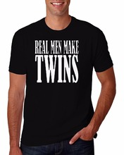 Buy New Arrivals Funny Summer Adult Real Men Make Twins Dad Maternity Funny Novelty Parody T-Shirt for $12.88 in AliExpress store