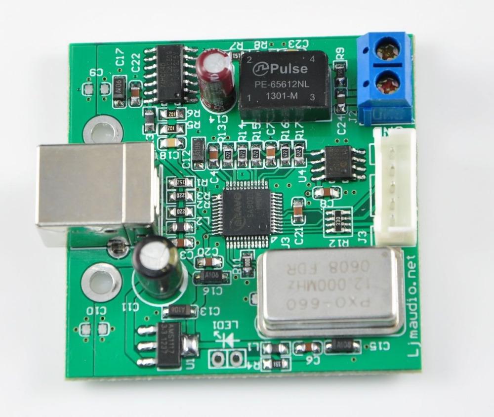 USB to SPDIF coaxial I2S SA9023 chip DAC supports 24-bit 96K sampling(China (Mainland))