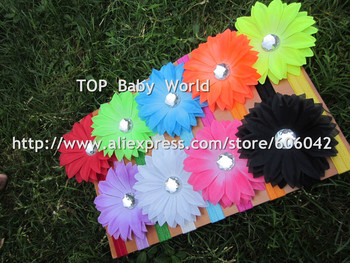 New design fluorescence color daisy flower with 1.5cm baby headbands  hiar bands hair accessories 50pcs/lot free shipping