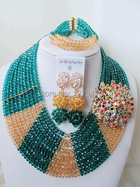 Classic  Fashion  crystal beads nigerian wedding african beads jewelry set costume jewelry sets  ASD953<br><br>Aliexpress