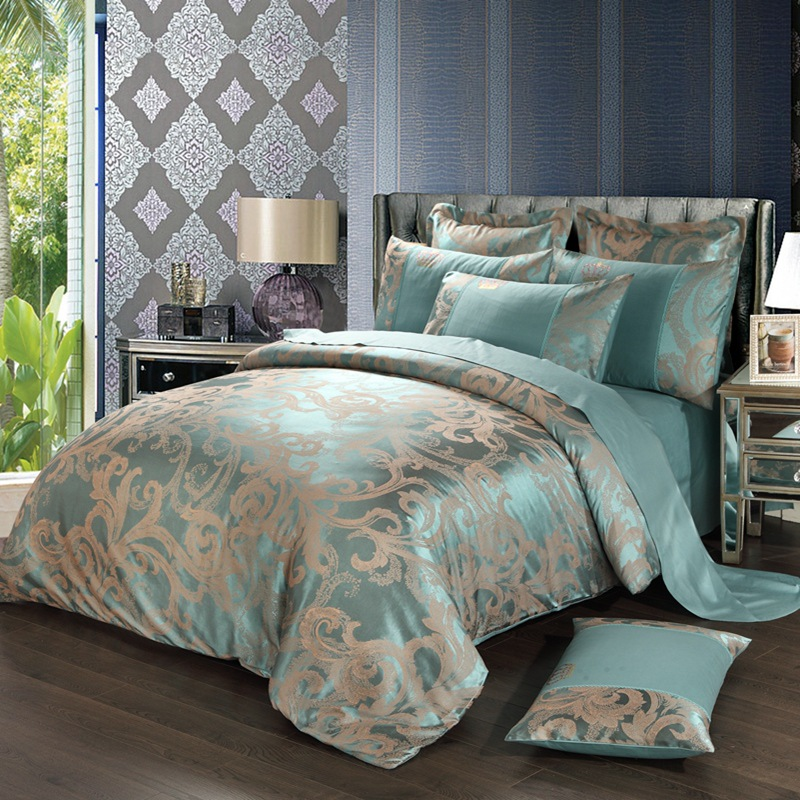 New Europe Palace Luxy Style Bedding Set 4 Pieces High Quality Tributed Fabric Bedding Cover Home Decoration(China (Mainland))