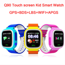 Q90 GPS Touch Screen WIFI Smart Watch Child SOS Location Finder Device Tracker Kid Safe Anti Lost Monitor Smartwatch PK Q80 Q50(China (Mainland))