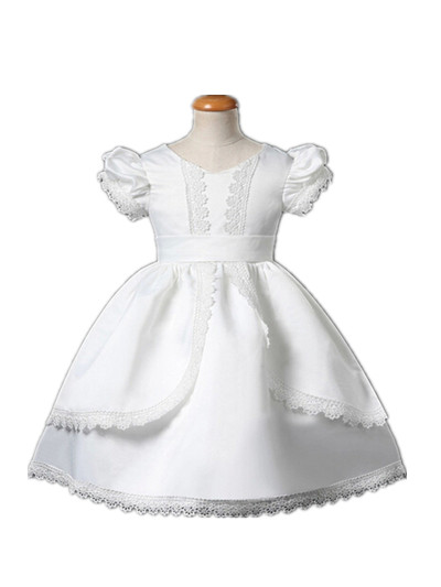 white ivory Royal baptism toddler baby girl christening