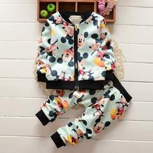 New Autumn Spring Tracksuit Girls Sports Suits Kids Clothes Zipper Sweatshirt Jogging 1-4T Children Boys Cartoon Clothing Sets(China (Mainland))